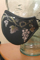 Silver Leaves and Grapes Mask Adult Size