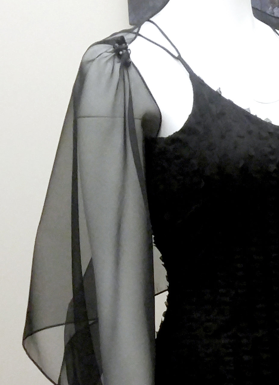 Bow Sleeve Beaded Silk Organza Wrap. more colours.