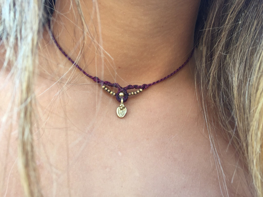 Ethereal spirit choker/ headpiece/ armband, adjustable, gypsy, boho necklace with brass beads