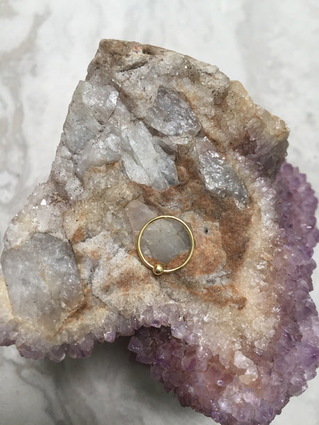 Gold plated Sterling silver Nose ring, gold nose ring, NR3