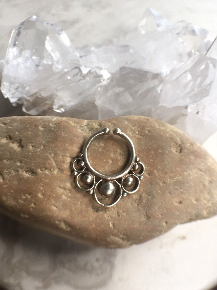 Faux septum ring, brass septum ring, indian septum ring, tribal septum ring, nose ring