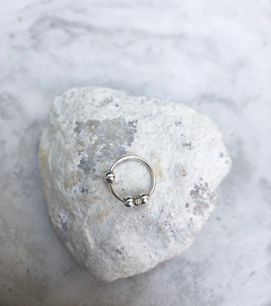 Sterling silver Nose ring, NR12