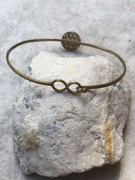 Flower of Life brass bangle, sacred geometry bangle, infinity bangle, tribal bangle, adjustable bangle, arm band, gold bangle