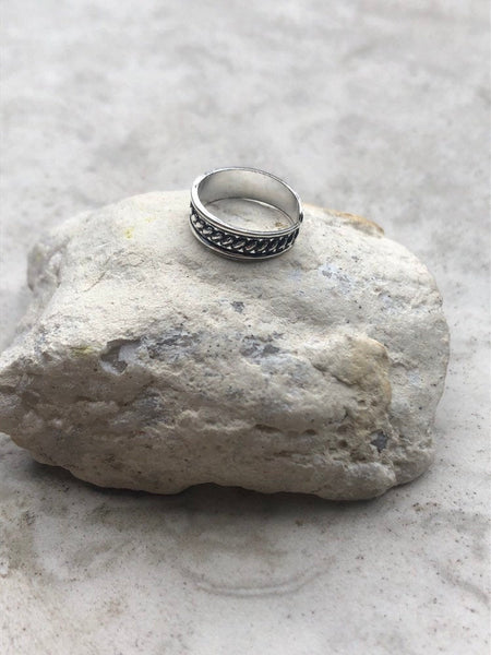 FREE SHIPPING Boho Sterling silver toe ring~ adjustable TR1