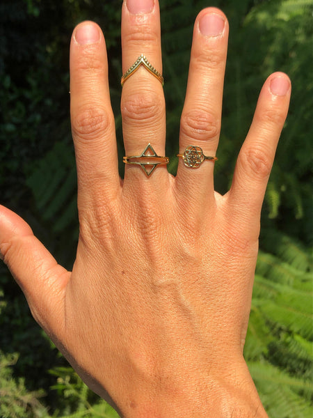 Arrow brass ring, Boho ring, gold ring, gypsy ring, boho ring