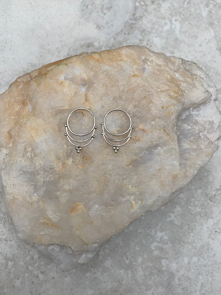 925 Sterling Silver hoop earrings, gypsy earrings, boho earrings, silver earrings, sterling silver hoops, hoop earrings, SS1