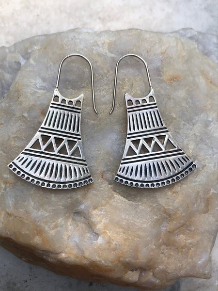 Divine Priestess 925 Sterling Silver earrings, gypsy earrings, boho earrings, silver earrings, sterling silver drop earrings, SS9