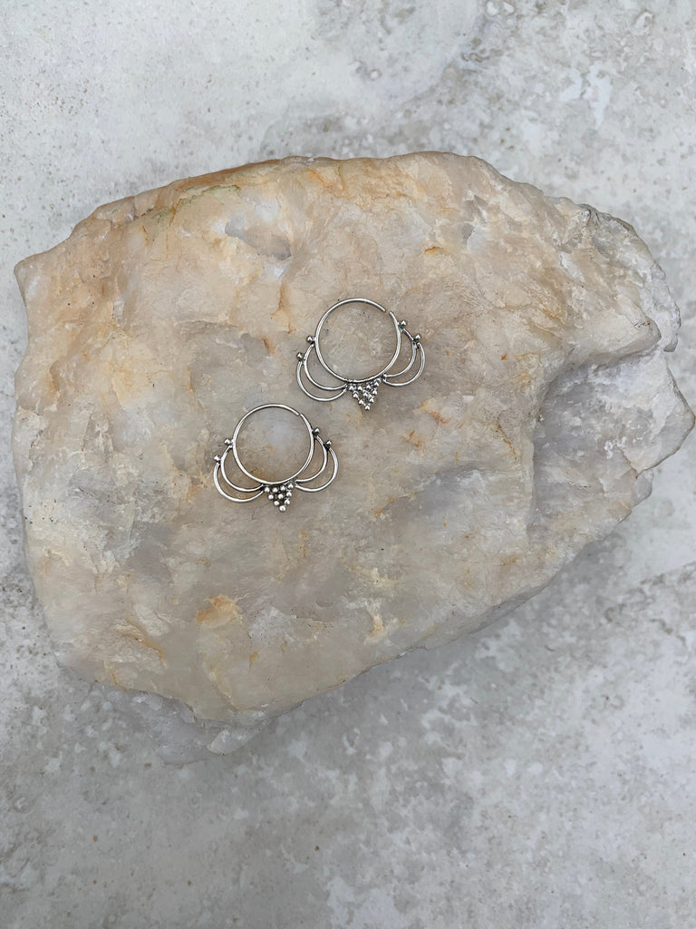 925 Sterling Silver hoop earrings, gypsy earrings, boho earrings, silver earrings, sterling silver hoops, hoop earrings, SS9