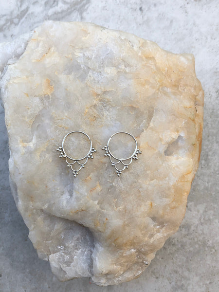 small 925 Sterling Silver earrings, gypsy earrings, boho earrings, silver earrings, sterling silver hoops, hoop earrings, SS2