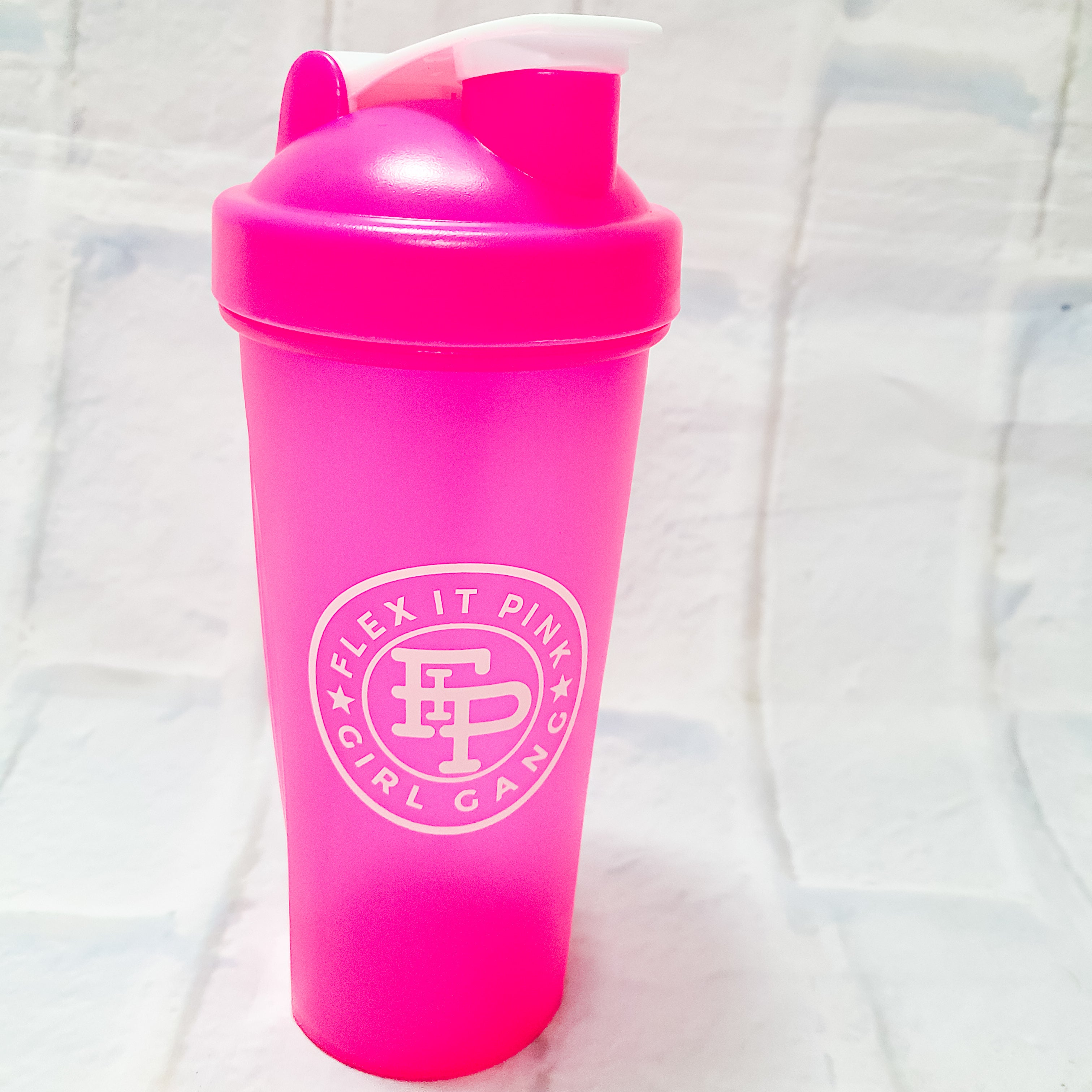 Neon Pink Blender Bottle