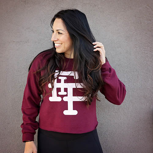Flex it Pink Logo Crewneck Sweatshirt