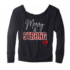 Merry and Strong Off The Shoulder  Long Sleeve Tee