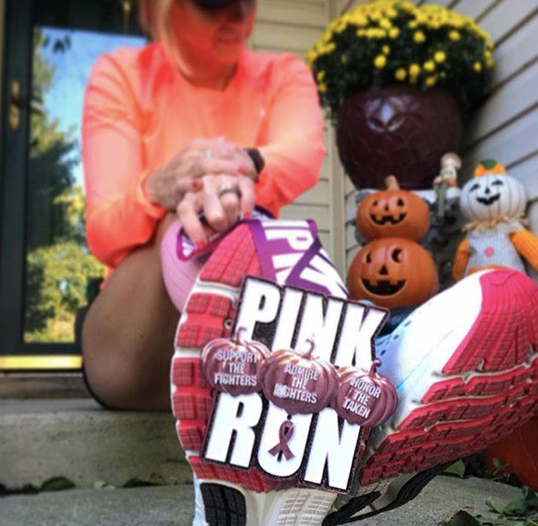 Pink Pumpkin Run Medal Only Pack