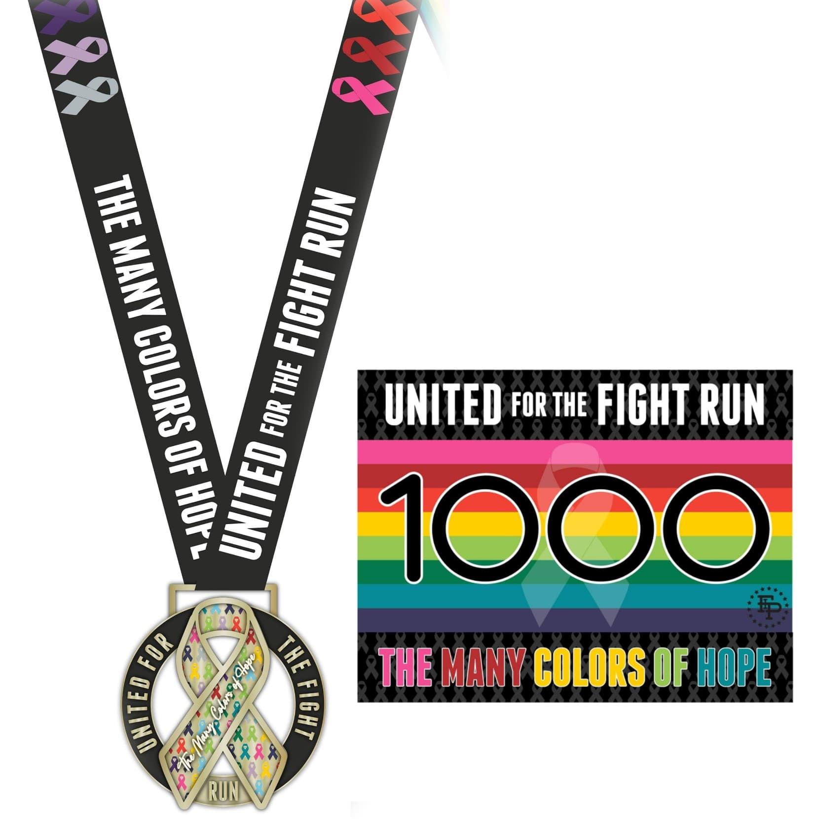 2020 FIP United For The Fight 5K/10K LARGE MEDAL ONLY Pack