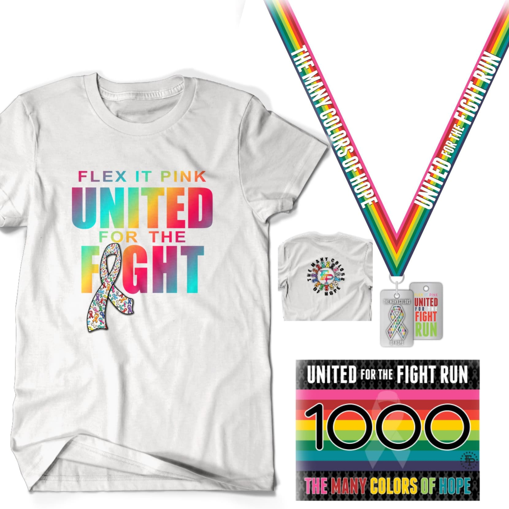 2020 FIP United For The Fight 5K/10K Unisex TEE Pack *SOLD OUT*