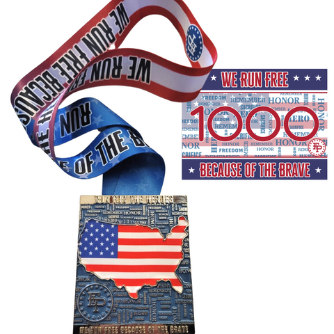 2021 Run For The Heroes Medal ONLY Pack
