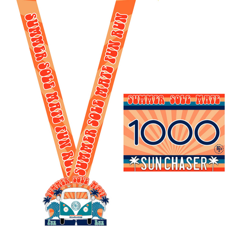 2020 Summer SoleMate Fun Run 5K/10K LARGE MEDAL ONLY Pack