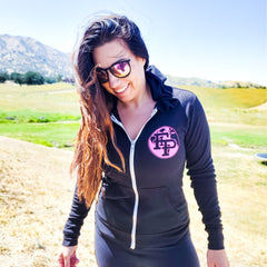 Flex it Pink Girls Run The World Zip Up Hoodie