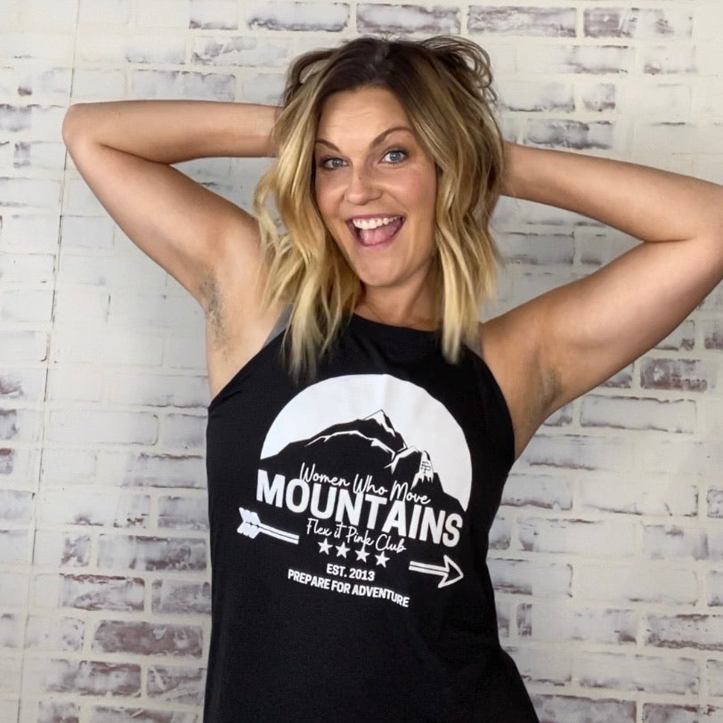 Move Mountains High Neck Tank Top