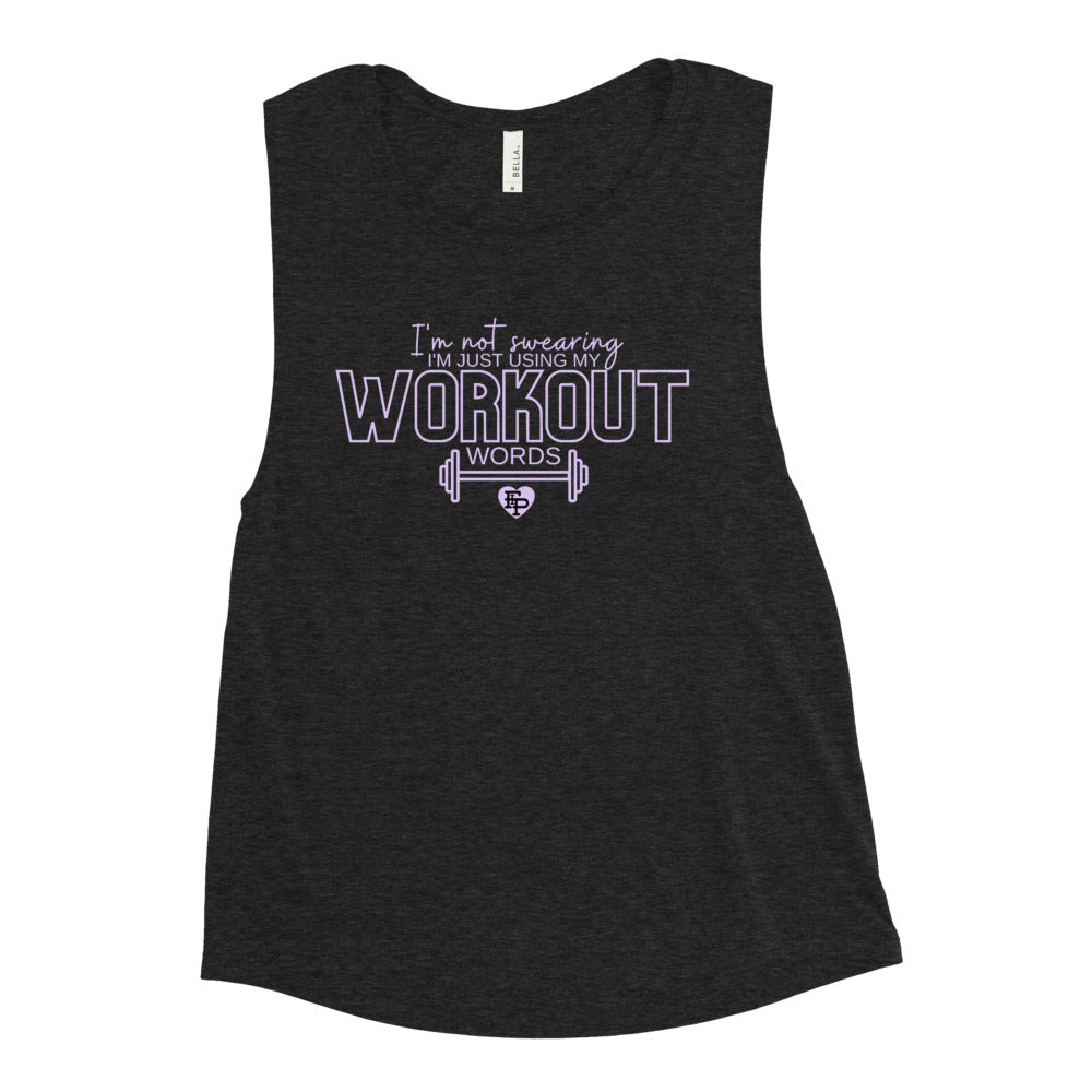 Workout Words Muscle Tank