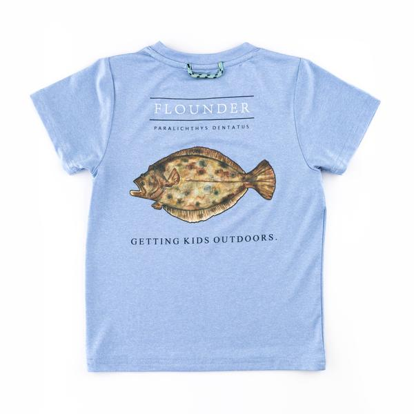 Blue Flounder Performance Tee