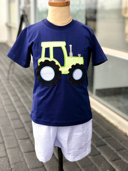 Tractor Applique Boys T-shirt & shorts