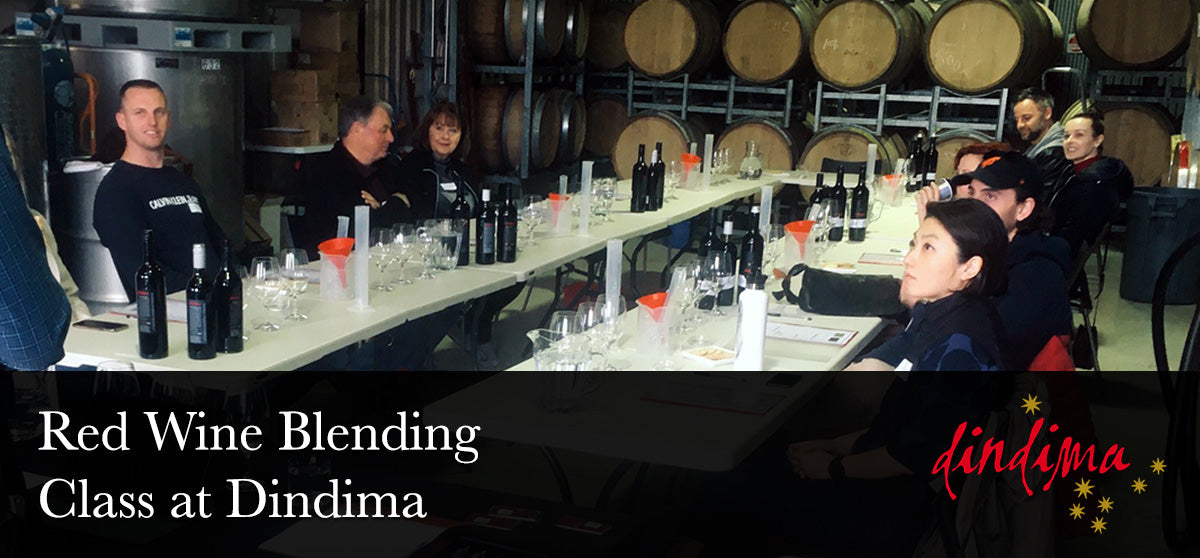 Red Wine Blending Class at Dindima