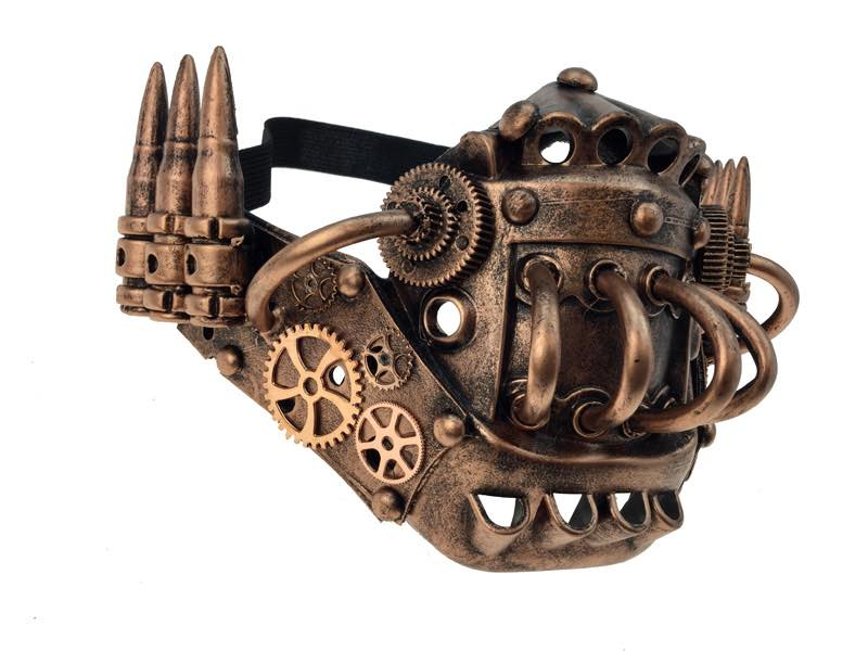 Bullet Steampunk Face Mask