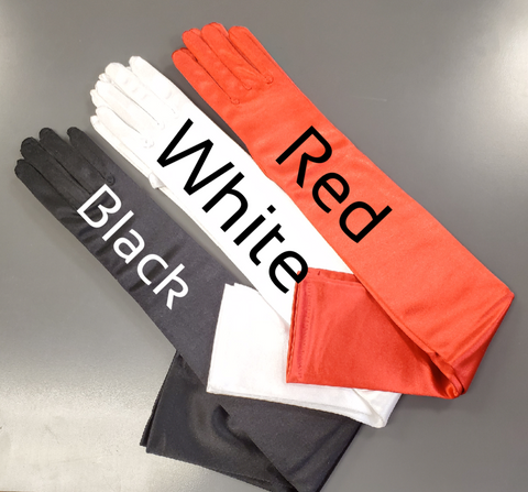 Satin Shoulder Length Gloves