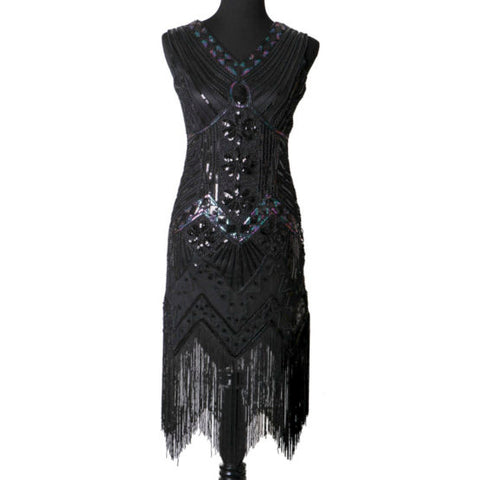 Iridescent Sequin Flapper Dress