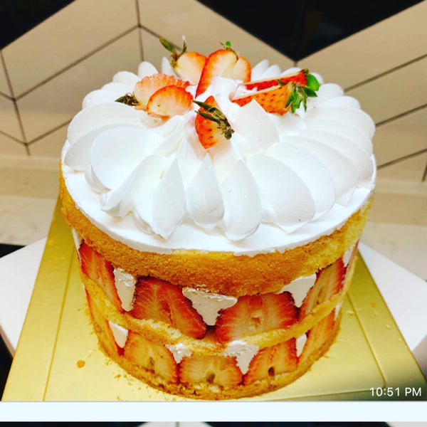 Tower of Love Strawberry Streusel Cake