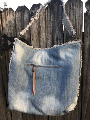 Steven Embroidered Jean Tote