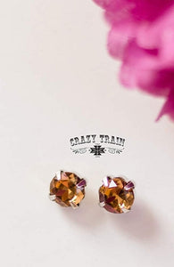 Rose Gold Glam Earrings