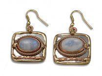 Moonstone Metal Earrings