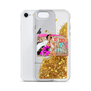 Queen of Beer Liquid Glitter Phone Case