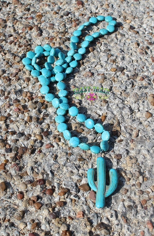 Turquoise Cactus Necklace