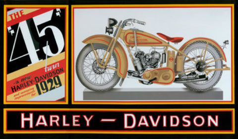 HARLEY-DAVIDSON® 45 TWIN TIN SIGN 2010171