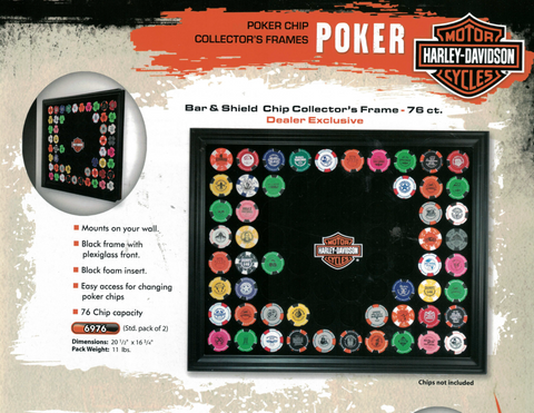 76 PIECE DEALER POKER CHIP FRAME