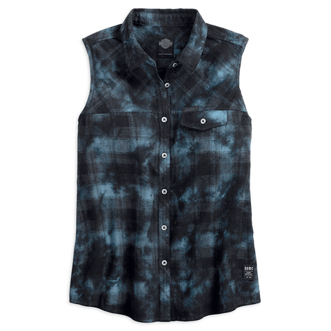 HARLEY-DAVIDSON PLAID WOMEN'S SLEEVELESS SHIRT