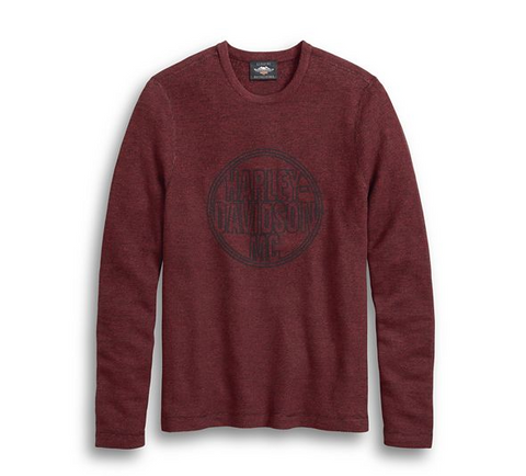 Harley-Davidson Men's Circle Logo Sweater Dark Red