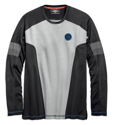 Harley-Davidson® Men's Performance Colour blocked Long Sleeve Tee