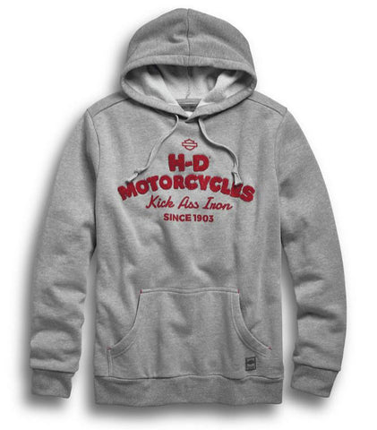 Harley-Davidson® Men's Kick Ass Iron Pullover Hoodie Slim Fit