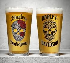 HARLEY-DAVIDSON® SKULL LOGO 2 SET PINT GLASS