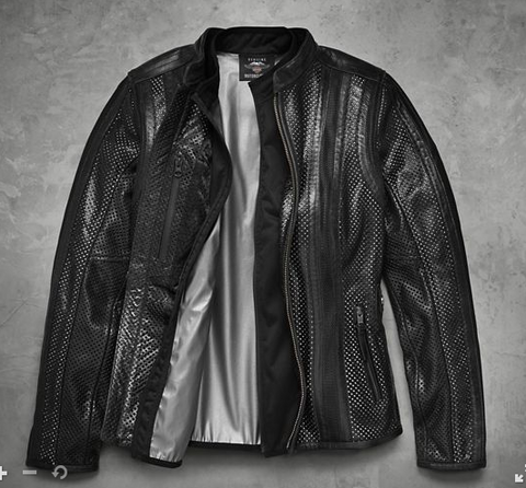 HARLEY-DAVIDSON WOMENS VENOS PERFORATED JACKET WITH COOLCORE TECHNOLOGY