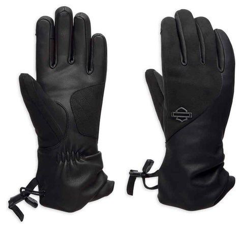 Harley-Davidson® Women's Joeve Thinsulate™ Touchscreen Leather Gloves - Large only