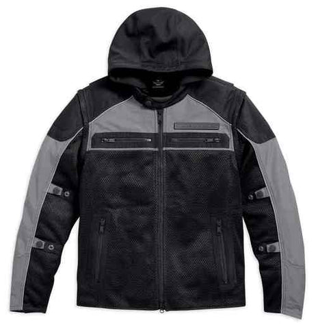 Harley-Davidson® Men's Stack 3-IN-1 Convertible Mesh Riding Jacket