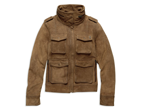 Harley Davidson Ladies' Suede Utility Tan Jacket