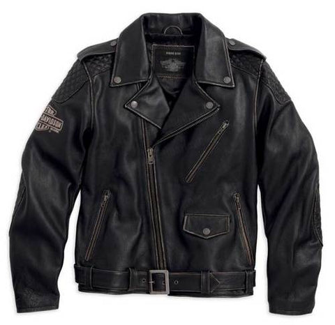 Harley-Davidson® Men's Vintage Biker Leather Jacket.