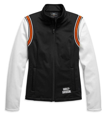 Harley-Davidson® Women's Embellished Logo Fleece Jacket - Black & White.