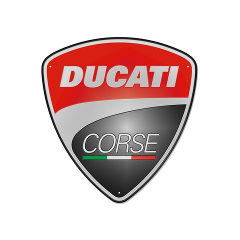 DUCATI METAL SIGN - DUCATI CORSE